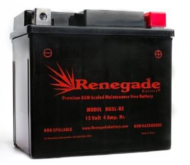ATV Battery; RG5L-BS; Fits Arctic Cat (2004, 2005, 2006, 2007, 2008, 2009, 2010, 2011, 2012, 2013, 2014) 90 2x4 4-Stroke, 90 2x4 SE, DVX 90, DVX 90 SE, DVX 50; Part# ES5L-BS, PTX5LBS-FS, BTX5L-BS