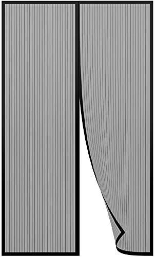 Lictin Mosquitera magnética para puertas de 140 x 240 cm Malla, cortina mosquitera para puertas de entrada/puertas/patios