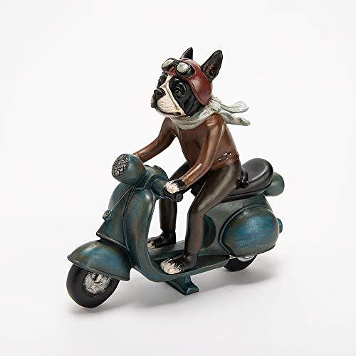 Amadeus – Decoración para perro sobre bicicleta 26 cm x 25 cm x 10,5 cm