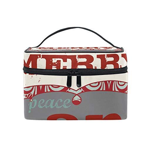 Christmas Be Joy Cosmetic Bag Bolsa de Aseo portátil Grande para Mujeres/niñas Bolsa de Maquillaje de Viaje