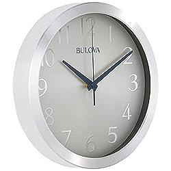 Bulova C4844 Winston Wall Clock, Pack of 1, Silver