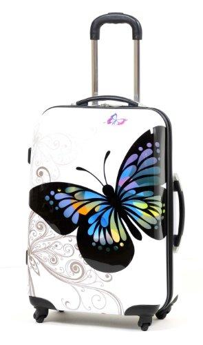 Unbekannt - Maleta Unisex Blanco Butterfly Print Cabin - 57cm 4W