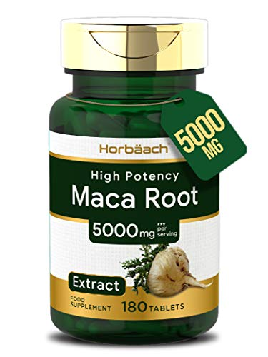 Maca Root 5000mg | 180 Vegan Tablets | High Strength Peruvian Maca | Non-GMO, Gluten Free Supplement