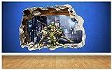 Teenage Mutant Ninja Turtles zerstörten Wandtattoo–Schlafzimmer Jungen Vinyl Wand Kunst,...