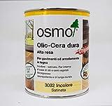 Olio cera dura alta resa 3032 Osmo per pavimenti e arredamento in legno da 0,75 ml Idrorepellente