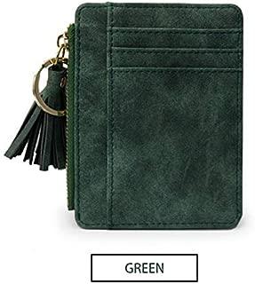 Leather Tassel Mini Women Wallets Vintage Female Small Purses Ladies Credit Card Slim Wallets Pink portomonee walet