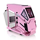 Thermaltake AH T200 Pink Helicopter Styled Open Frame Tempered Glass Swing Door USB3.1 (Gen.2) Type-C m-ATX Micro Case CA-1R4-00SAWN-00, Pink