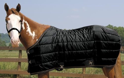 "Weaver Heavyweight Quilted Winter Stable Blanket (300 Grams) - Size:76"" Color:Bl"