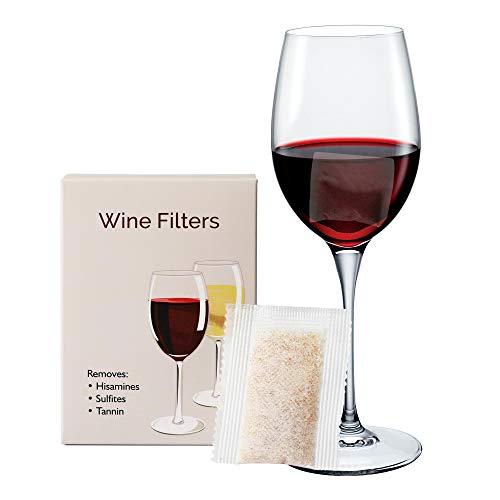 Yarkor Weinfilterdose gegen Rotwein-Kopfschmerzen, Übelkeit, Weinallergie und andere Proteine 12 Packungen