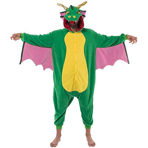 Spooktacular Creations Disfraz de Dragón para Unisex Adulto Pajamas Mono (M)