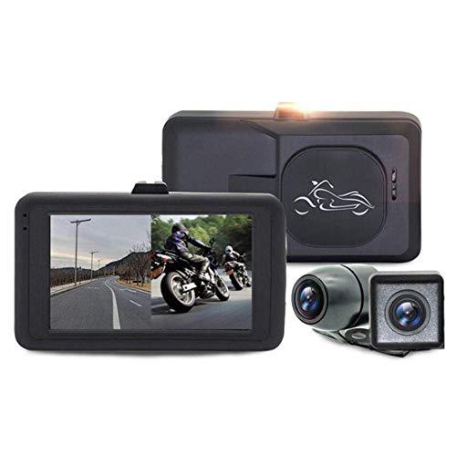 Motocicleta grabadora, Lente Dual grabadora de vídeo 170 Gran Angular Camer, a Prueba de Agua Pantalla LCD de 3,0