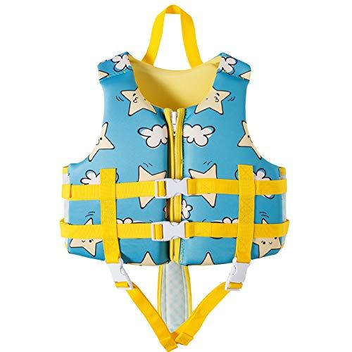MoYoTo Asistente De Natación Chaleco Salvavidas Alta Flotabilidad para Evitar Colisiones Mantiene Abrigado El Chaleco Salvavidas para Niños para Nadar, Pescar Y Surfear,Azul,M