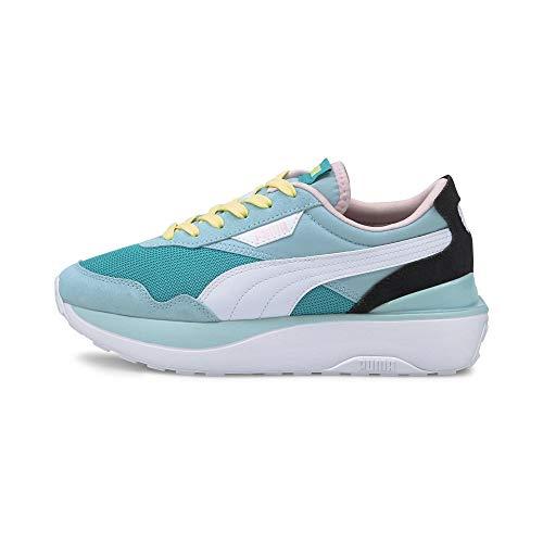 Puma Cruise Rider Silk Sneakers Dames Blauw/Wit/Zwart - 39 - Lage Sneakers Shoes