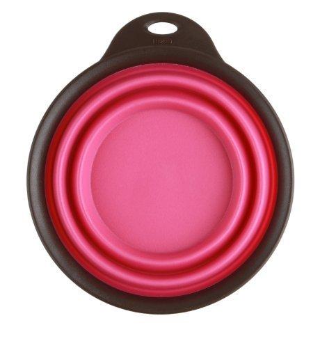 Popware pour animaux domestiques extensible/Voyage pliable tasse, grand, rose par Popware pour animaux domestiques