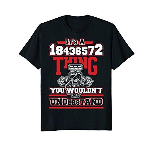 Funny V8 Engine Firing Order 18436572 T-Shirt for Car Guys