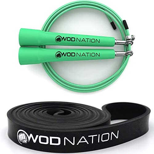 Green Speed Jump Rope 13 16 Black Resistance Band 30 to 60 Pounds of Resistance product image