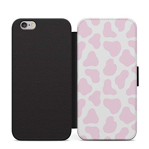 Baby Pink Cow Muddy Pattern Multicolour Phone Case Wallet Cover For Samsung Galaxy S8
