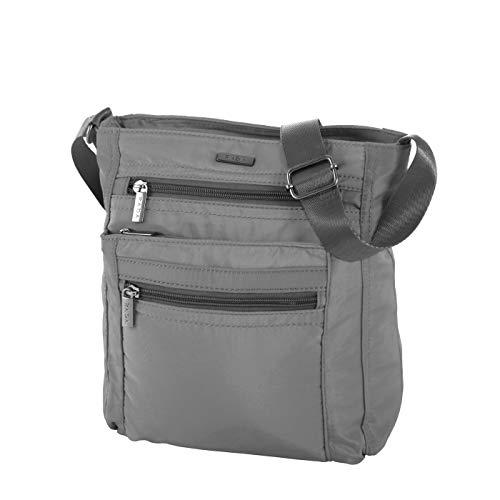 Rada Umhängetasche Damen, für Freizeit, Schultertasche inkl. Mini-Taschenlampe, Frauen und Mädchen, modische Messenger Bag in verschiedenen Farben (grau)