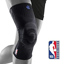 Bauerfeind Sports Knee Support NBA - Officially Licensed Basketball Brace with Medical Compression - Sleeve Design with Omega Gel Pad for Pain Relief & Stabilization (Black, XL)