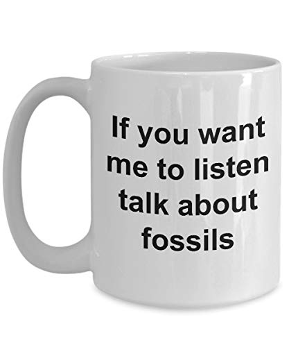 Taza Fossil - Taza de cerámica blanca - Regalo de paleontología