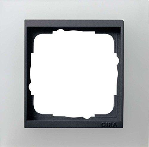 Gira 021124 Abdeckrahmen 1-fach für anthrazit Event opak, weiß