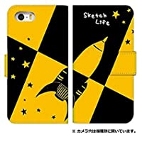 手帳型 スマホケース [iPhone6s] ケース 0238-B. スケッチロケット アイフォン 6s ケース カバー 人気 アイフォン シックスエス ケース
