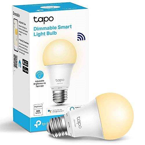 TP-Link Ampoule Connectée, Ampoule LED E27 Tapo L510E compatible avec Alexa et Google Home, Lampe Intelligente WiFi Configure rapidement,Contrôle à distance par smartphone, 8.7W