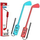 hastraith mazze da mario golf super rush accessori, adatti per nintendo switch joy-con control surround double club, accessori per giochi mario golf(rosso e blu)