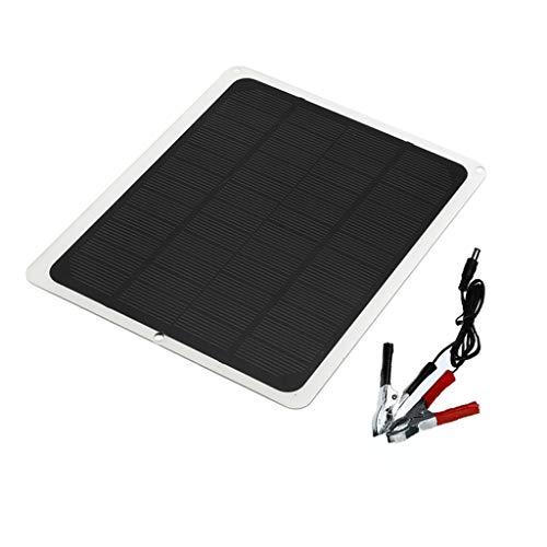 BIlinli 10W 12V Kit de Panel Solar policristalino Flexible Generador de Placa eléctrica de Emergencia al Aire Libre con Ventilador de Escape para el hogar