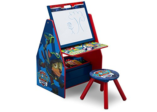 Delta Children Kids Easel and Play Station – Ideal for Arts & Crafts, Drawing, Homeschooling and More, Nick Jr. PAW Patrol