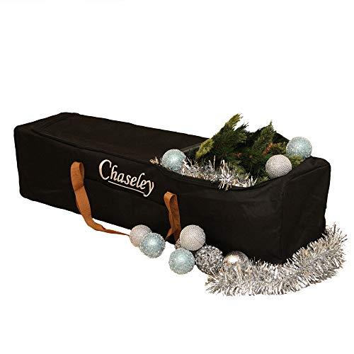 Chaseley Bolsa de Almacenaje Grande para Árbol Decoración Navidad Material Fuerte Cosido Doble Cremallera Tres Vías Resistente UV Impermeable