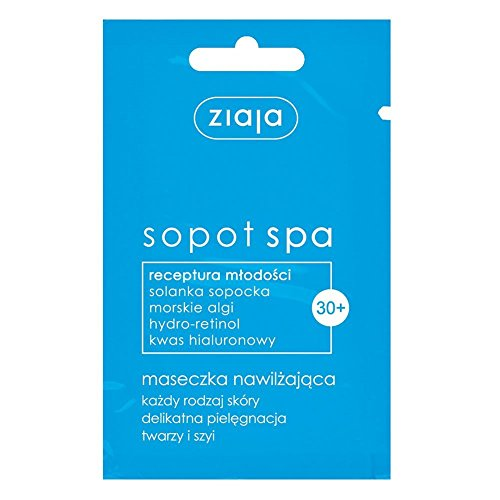 Ziaja Sopot Spa Hidratante Máscara 3x 7ml refrescante aroma ricas recetas con algas