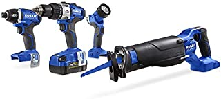 Kobalt Kobalt 24-Volt Max 4-Tool Lithium Ion (Li-ion) Brushless Motor Cordless Combo Kit with Soft Case