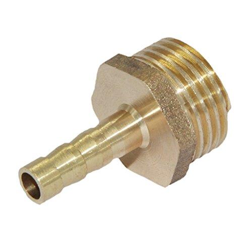 Sharplace Messing Schlauchkupplung Kupplung Schnellkupplung 1/2 3/4 1 Zoll Aussengewinde - 6mm 1/2