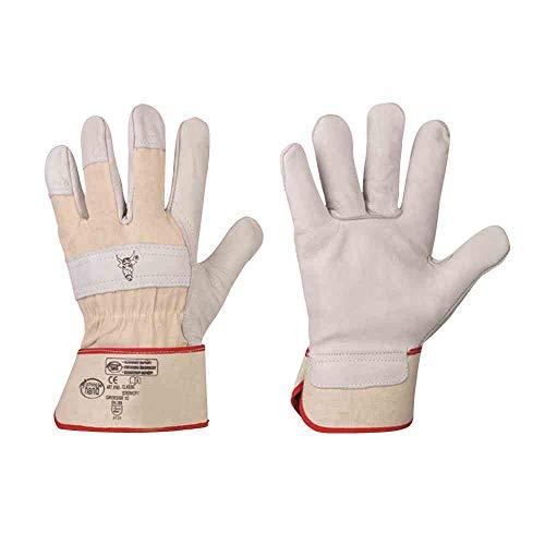 FELDTMANN Handschuh STIERKOPF Gr.11 Rindvolleder, natur, Doppelnaht