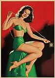 Póster De Pintura En Lienzo, Pinup Girls N. ° 2, Imágenes Artísticas De Pared De La Segunda Guerra Mundial, Decoración Sin Marco Para El Hogar, Impresiones Artísticas Quadro Cuadros K385(40X50Cm)