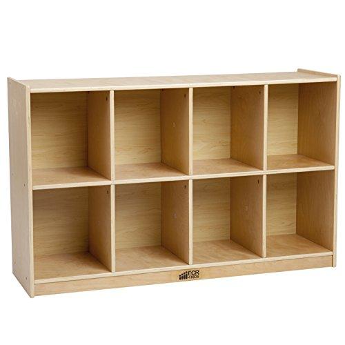 ECR4Kids Birch Hardwood 8 Compartment School Backpack Storage Cubby Unit