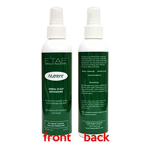Etae Natural Products Nutrient Herbal Scalp Replenisher Spray 6oz for Natural, Relaxed, Color Treated Hair (1 item)