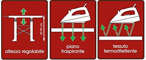 Bama Trend ASSE da Stiro, Grigio, 137x40x92 cm