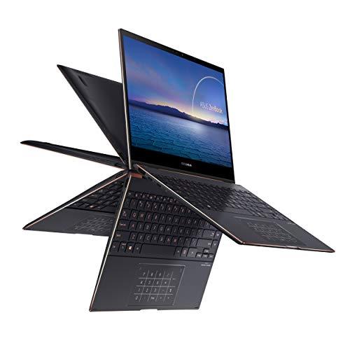 "Product Image 2: , ASUS ZenBook Flip S Ultra Slim Laptop, 13.3"" 4K UHD OLED Touch Display, Intel Evo Platform – Core i7-1165G7 CPU, 16GB RAM, 1TB SSD, Thunderbolt 4, TPM, Windows 10 Pro, Jade Black, UX371EA-XH77T"