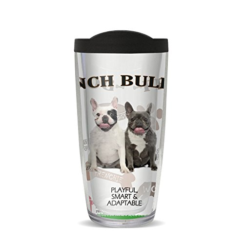 Covocup French Bulldog Cup, 16 oz, Multicolor