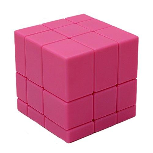 MEISHINE Rosa Mirror Cube Cubo Mágico Inteligencia Mágico Cubo de la Velocidad Juego de Puzzle Cube Speed Magic Cube Stickerless