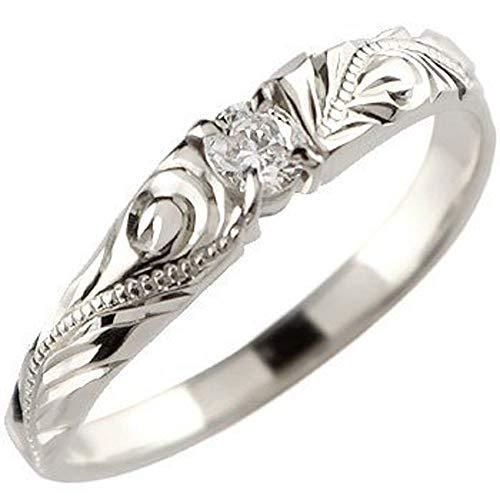 [アトラス]Atrus リング レディース pt950 ハードプラチナ950 ダイヤモンド 一粒 エンゲージリング ハワイアンジュエリー ミル打ち 指輪 11号