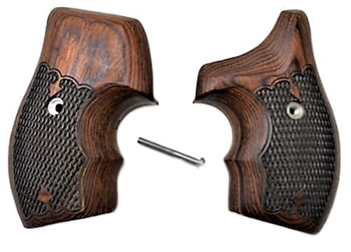 Premium Gun Grips Smith & Wesson Rosewood Low Profile Half Wrap J Frame Grips