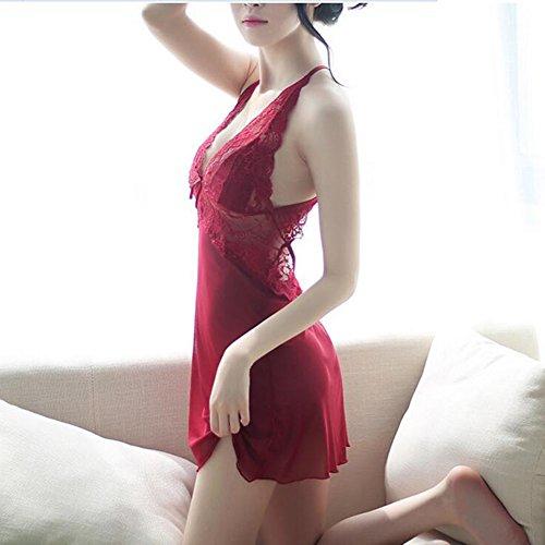 CJC Sexy Pijamas + Tangas Coqueteo Tentación Encanto Vestido De Dormir (Tamaño : S(for 40-47.5 kg))