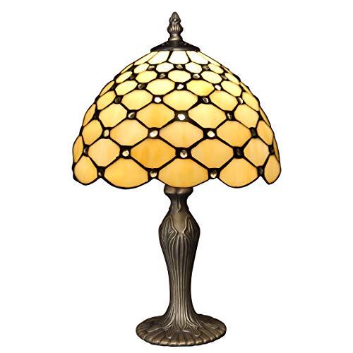 World Art TW60479 Lampes Style Tiffany Chevet avec pierres, 41x25x25 Cm