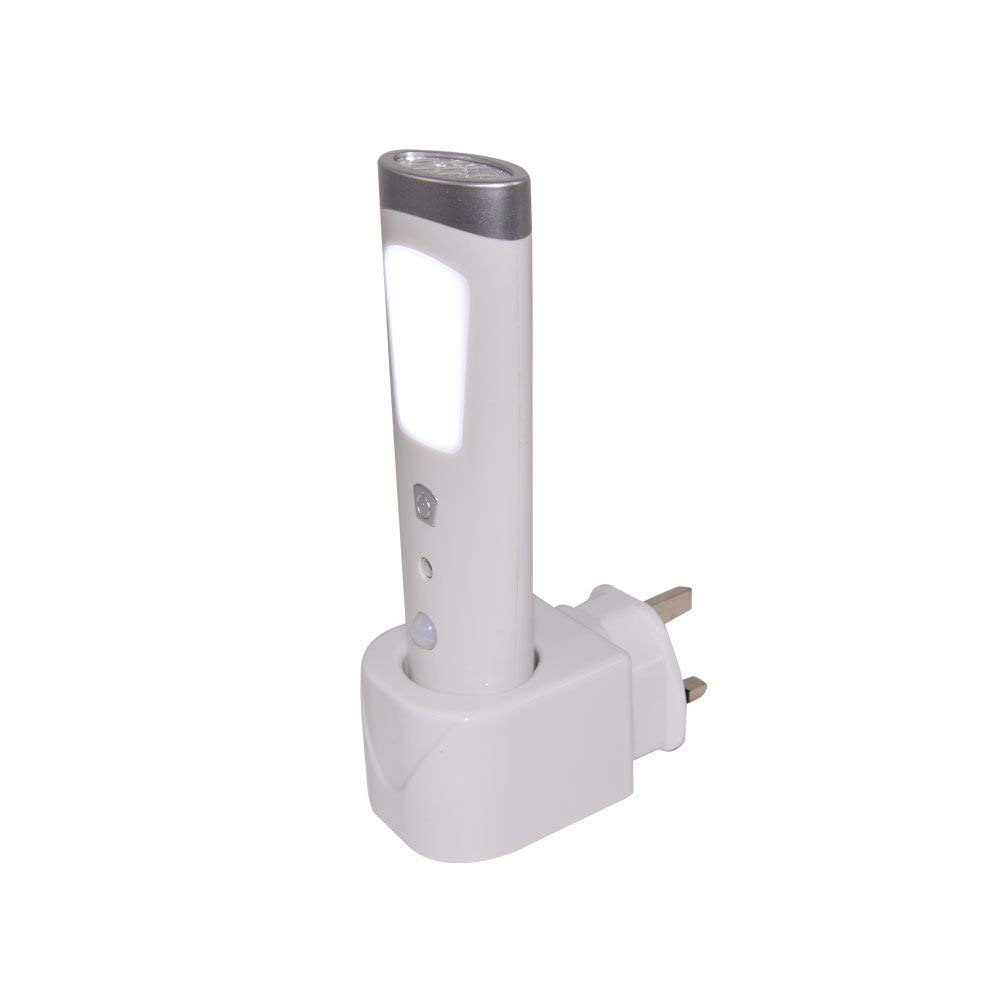 Wolf 3 in 1 Safety /& Mains Failure LED Motion Sensor Rechargeable Automatic Night Light /& Torch Emergency Power Cut Light