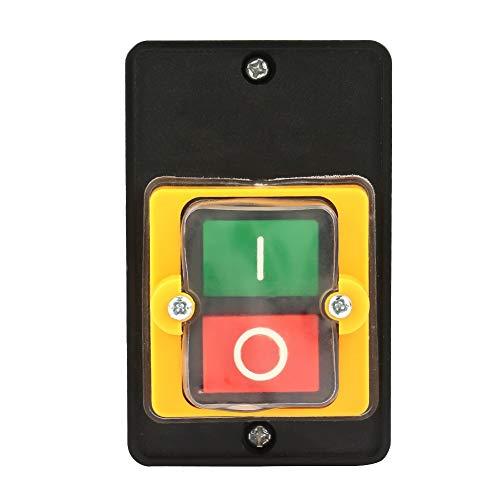 Interruptor On Off 220v- Samfox Interruptor de Parada de Arranque del Motor con Botón Pulsador Interruptor de Apagado con Superficie Impermeable a Prueba de Polvo Caja KAO-5 10A AC 220 / 380V