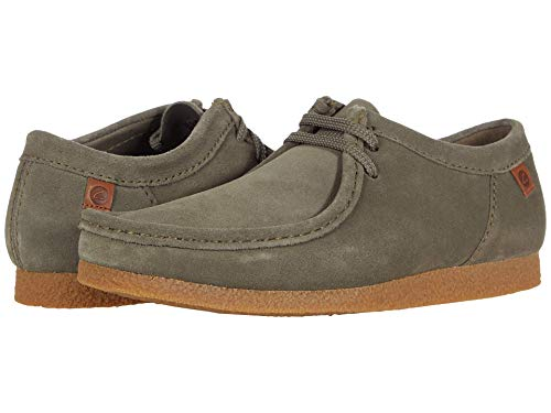 Clarks womens Shacre Ii Run Moccasin, Olive Suede, 7.5 US