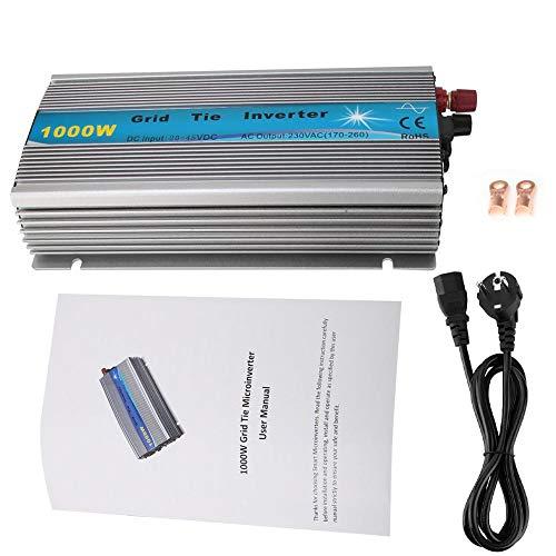 Elprico Solar Wechselrichter, 1000 W Reiner Sinus Wechselrichter MPPT Solar Wechselrichter mit DC Unterspannungsschutz, DC Überspannungsschutz, AC Unterspannungsschutzfunktion(36V-220V-EU Plug)